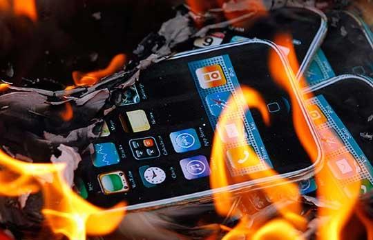 возгорание-телефона