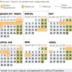 Проект календаря праздничных дней в 2018 г.